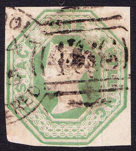SG 154 1/- Pale Green Embossed Die 1