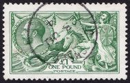 SG 403 £1 Green Seahorse VFU