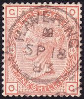 SG 163 1/- Orange-Brown Plate 14 (OG) VFU