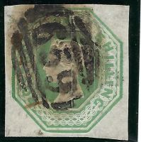 SG56 1/- Green Embossed
