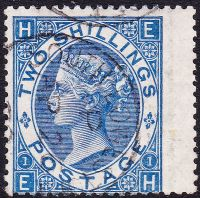 SG 119 2/- Deep Blue with RPS Cert