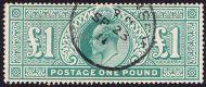 SG 266 £1 Green VFU