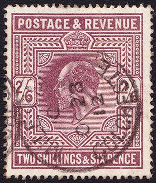 SG 317 2/6- Dark Purple (Somerset House)