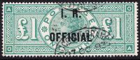 SG 016 L11 (OA) £1 Green I.R. Official VFU