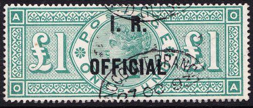 SG 016 L11 (OA) £1 Green I.R. Official VFU