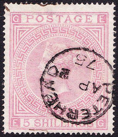 SG 127 5/- Pale Rose Plate 2 (EG) VFU