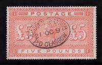 SG 137 £5 Orange (BF) VFU